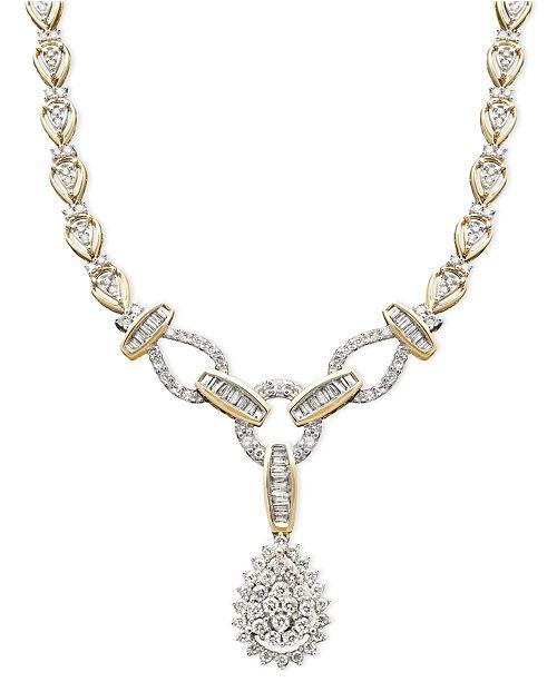 Macy s Diamond Teardrop Necklace in 14k Gold (2-1 2 ct. t.w. ... 49d6bb94a