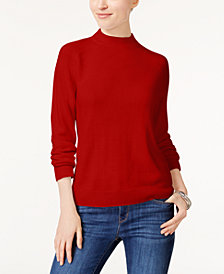 Karen Scott Luxsoft Mock-Neck Sweater, Created for Macy's