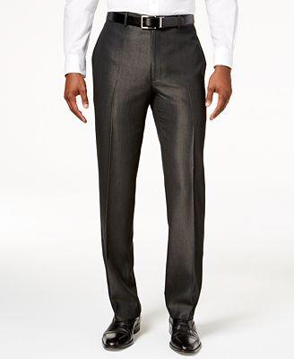 Alfani Men's Textured Dress Pants, Created for Macy's