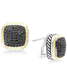 Balissima by EFFY® Diamond Two-Tone Stud Earrings (7/8 ct. t.w.) in Sterling Silver & 18k Gold