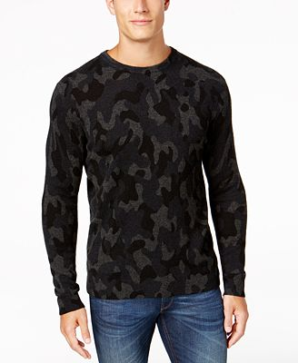 Club Room Men's Camo Cashmere Sweater, Created for Macy's ...