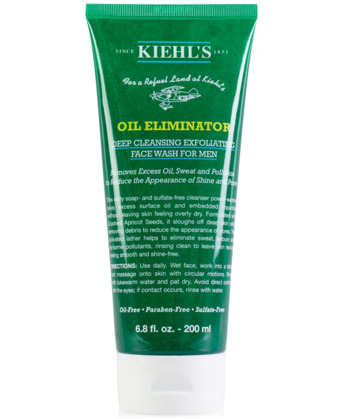 Kiehl's Since 1851 Oil Eliminator Deep Cleansing Exfoliating Face Wash For Men, 6.8-oz. & Reviews - Skin Care - Beauty - Macy's