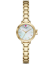 kate spade new york Women's Park Row Gold-Tone Stainless Steel Bracelet Watch 24mm KSW1361