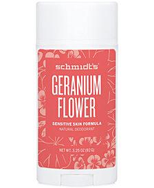 Schmidt's Deodorant Geranium Flower Sensitive Skin Deodorant Stick