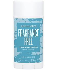 Schmidt's Deodorant Fragrance Free Sensitive Skin Deodorant Stick