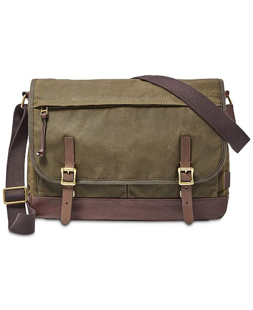 Men S Waxed Canvas Defender Messenger Bag 43 Reviews Main Image