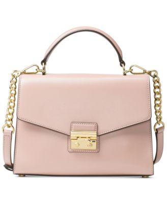 michael kors sloan medium top handle satchel handbags rh macys com