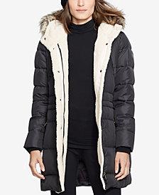 Lauren Ralph Lauren Faux-Sherpa Anorak Coat