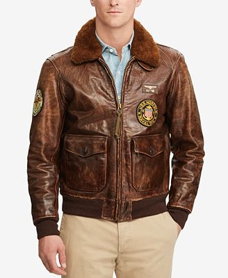 Polo Ralph Lauren Men's Iconic G-1 Bomber Jacket - Coats & Jackets ...