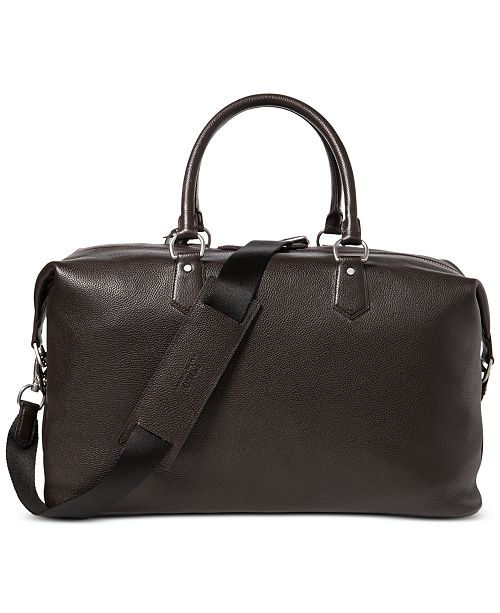 Polo Ralph Lauren Men S Pebbled Leather Duffel Bag All Accessories Macy