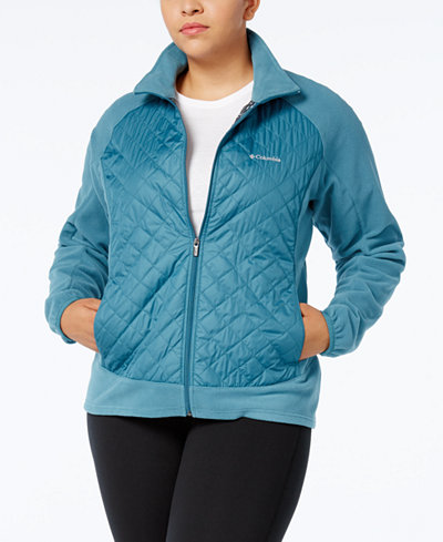 Columbia Plus Size Warmer Days Quilted Fleece Jacket