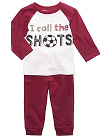 Soccer-Print T-Shirt & Jogger Pants, Baby Boys (0-24 months), Created for Macy's