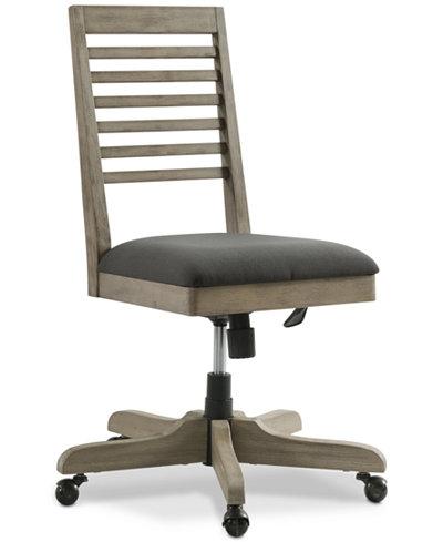 Ridgeway Home Office Mobile Slat Back Desk Chair, Created for Macy's