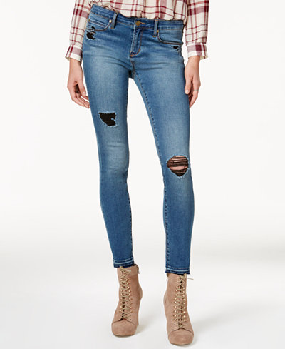 Articles of Society Sarah Ankle Skinny Released-Hem Distressed Jeans