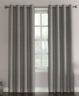 "Gilby Woven Linen Texture Energy Efficient Curtain Panel, 52"" W x 63"" L"