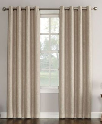 "Gilby Woven Linen Texture Energy Efficient Curtain Panel, 52"" W x 84"" L"