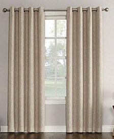 "Sun Zero Gilby Woven Linen Texture Energy Efficient Curtain Panel, 52"" W x 84"" L"
