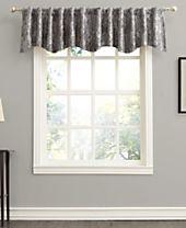 "Sun Zero Mayfield 54"" x 18"" Floral Blackout Rod Pocket Curtain Valance"