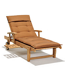 Bristol Teak Outdoor Chaise Lounge, Created for Macy's