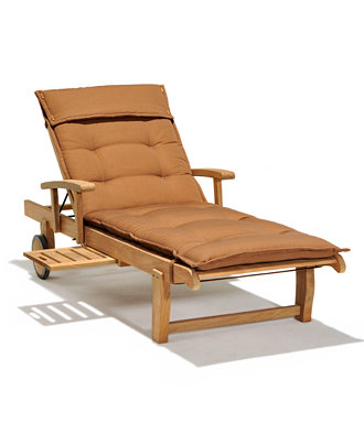 Bristol teak outdoor chaise lounge furniture macy 39 s for Black friday chaise lounge