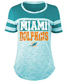 5th & Ocean Women's Miami Dolphins Space Dye Foil T-Shirt