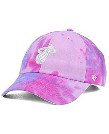 '47 Brand Miami Heat Pink Tie-Dye CLEAN UP Cap