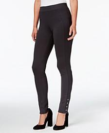 Snap-Hem Ponté-Knit Leggings, Created for Macy's