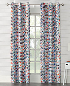 "CLOSEOUT! Sun Zero Raden Printed Room Darkening Grommet 40"" x 63"" Panel"