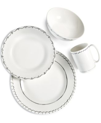 ... the dining table with the sketch-style scribbles that trim the playfully sophisticated Union Square Doodle Dinnerware Collection by kate spade new york.  sc 1 st  Macyu0027s & kate spade new york Dinnerware Union Square Doodle Collection ...