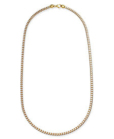 "24"" Two-Tone Franco Chain Necklace in Sterling Silver & 18k Gold-Plate"