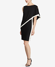 Lauren Ralph Lauren Colorblocked Overlay Dress