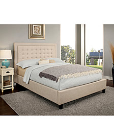 Annie Tufted Platform Bed Collection, Quick Ship