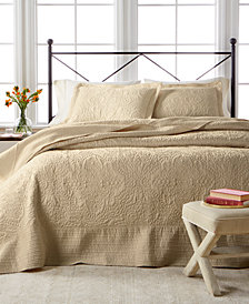 CLOSEOUT! Martha Stewart Collection Lush Embroidery Bedspread & Sham Collection, Created for Macy's