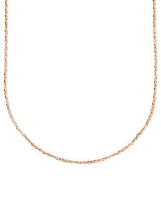 "14k Rose Gold Necklace, 20"" Perfectina Chain"
