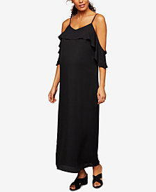 A Pea In The Pod Maternity Cold Shoulder Maxi Dress