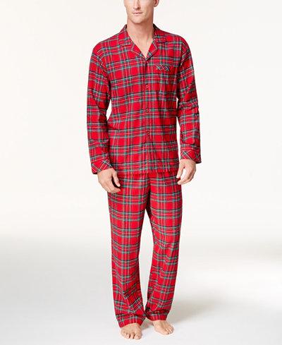 Family Pajamas Men's Holiday Plaid Pajama Set, Created for ...