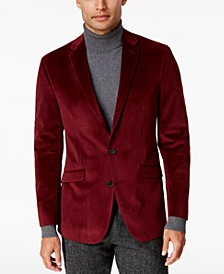 Men's Slim-Fit Micro-Grid Velvet Dinner Jacket