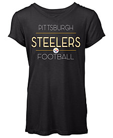 5th & Ocean Women's Pittsburgh Steelers Rayon V T-Shirt