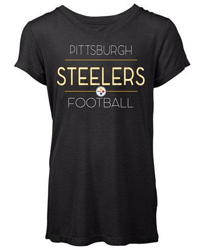 5th & Ocean Women's Pittsburgh Steelers Rayon V T-Shirt