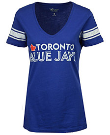 G-III Sports Women's Toronto Blue Jays Glitter Baseball T-Shirt