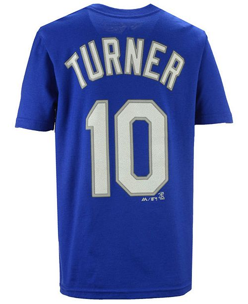 the latest 672b0 b9543 Boys' Justin Turner Los Angeles Dodgers Official Player T-Shirt, Big Boys  (8-20)
