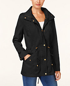 Style & Co Cotton Hooded Utility Jacket, Created for Macy's