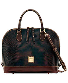 Dooney & Bourke Lizard-Embossed Zip Zip Satchel, Created for Macy's