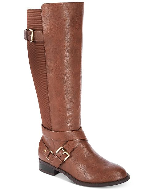 Thalia Sodi Vada Wide-Width Wide-Calf Riding Boots, Created for Macy's