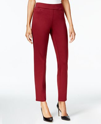 JM Collection Ponté-Knit 5-Pocket Pull-On Pants, Created for Macy's