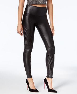 Spanx Women S Faux Leather Moto Tummy Control Leggings Handbags