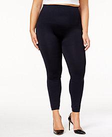 SPANX Women's  Plus Size Look At Me Now Camo Tummy Control Leggings