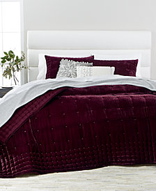 Martha Collection Tufted Velvet Quilt Sham Created For Macy S