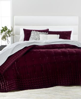 Awesome Martha Stewart Collection Tufted Velvet Quilt U0026 Sham Collection, Created  For Macyu0027s