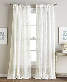 Embroidered Sheer Ogee Rod Pocket Window Panel Collection